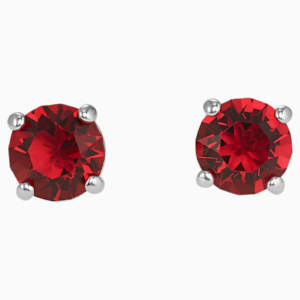 attract-stud-pierced-earrings--red--rhodium-plated-swarovski-5493979