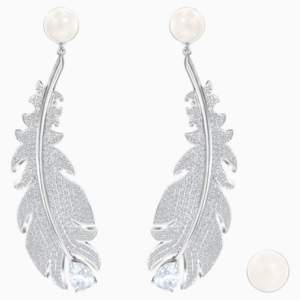 nice-clip-earrings--white--rhodium-plated-swarovski-5497866