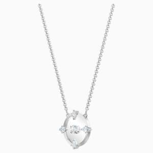 north-necklace--white--rhodium-plated-swarovski-5497232 (1)