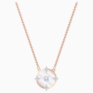 north-necklace--white--rose-gold-tone-plated-swarovski-5488400