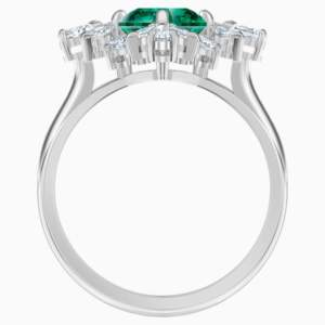 palace-motif-ring--green--rhodium-plated-swarovski-5498838 (2)