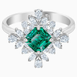 palace-motif-ring--green--rhodium-plated-swarovski-5498838
