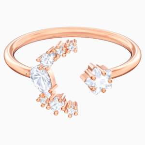 penélope-cruz-moonsun-open-ring--white--rose-gold-tone-plated-swarovski-5486350