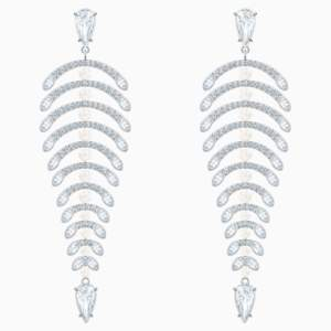 polar-bestiary-chandelier-pierced-earrings--white--rhodium-plated-swarovski-5489887